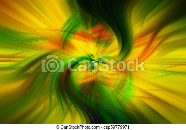 Beautiful Abstract Background In Blue Green Yellow And Orange Tones
