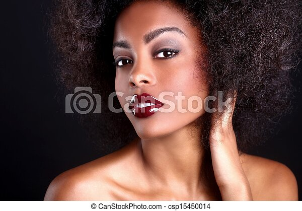 Beautiful African American Black Woman - csp15450014