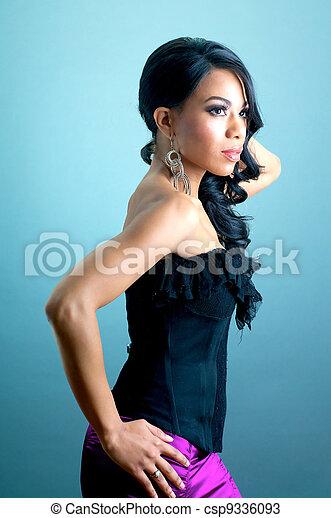 Beautiful African American Woman - csp9336093