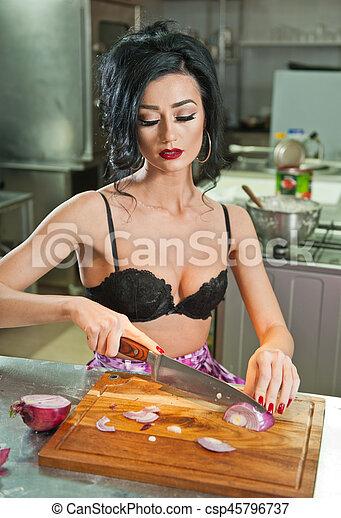 Sexy girls in the kitchen