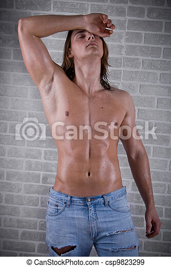 beautiful and strong young guy - csp9823299