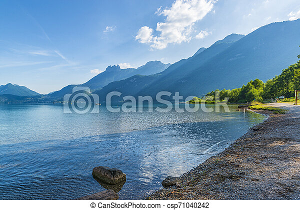 Beautiful Annecy lake in France. - csp71040242