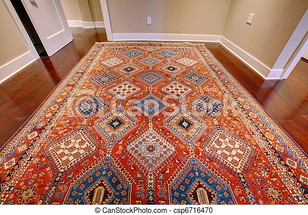 Beautiful Antique Rug With Red And Blue   Csp6716470