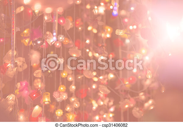 Beautiful art abstract bokeh background - csp31406082