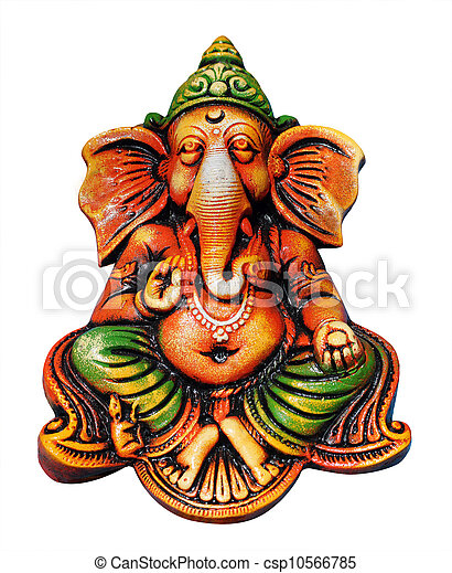 beautiful, artistic, & colorful ganesha idol who is one of the m - csp10566785