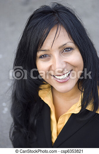 Beautiful asian  business woman - csp6353821
