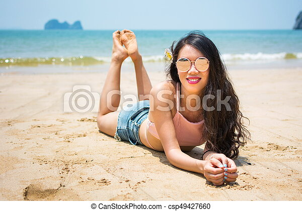 Asian girls at the beach suggest you