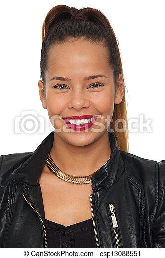 Beautiful Asian Woman Smiling - csp13088551