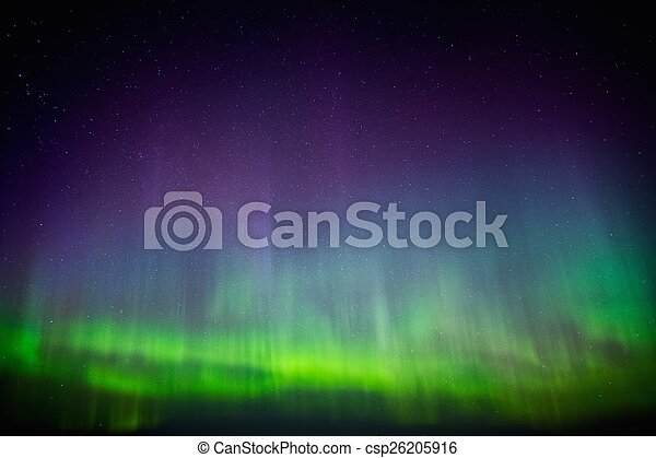 Beautiful Aurora Borealis in the sky  - csp26205916