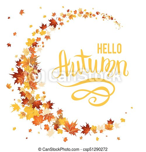 Beautiful autumn leaves - csp51290272