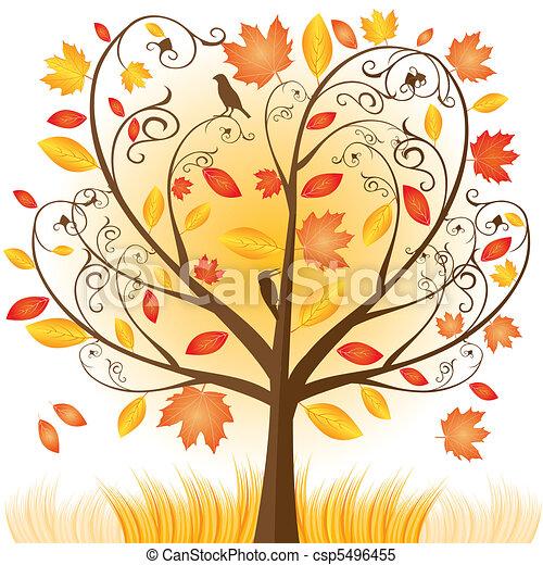 Beautiful autumn tree - csp5496455