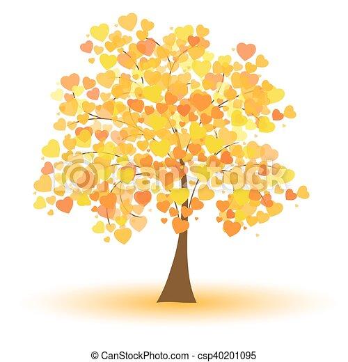Beautiful autumn tree - csp40201095