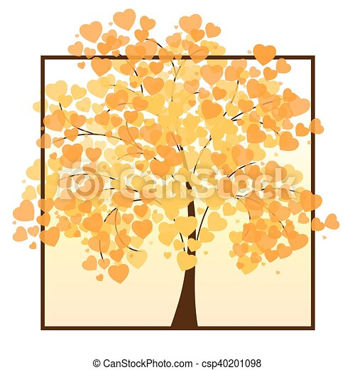 Beautiful autumn tree - csp40201098