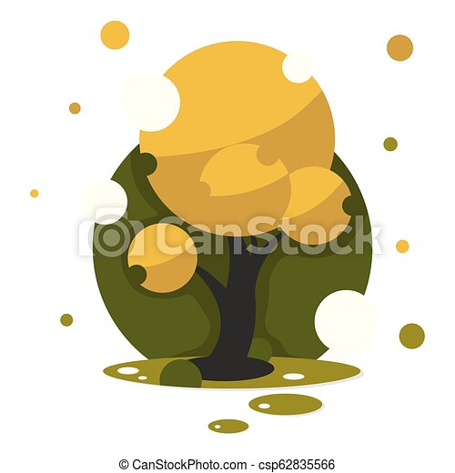Beautiful autumn tree for your design illustration art - csp62835566