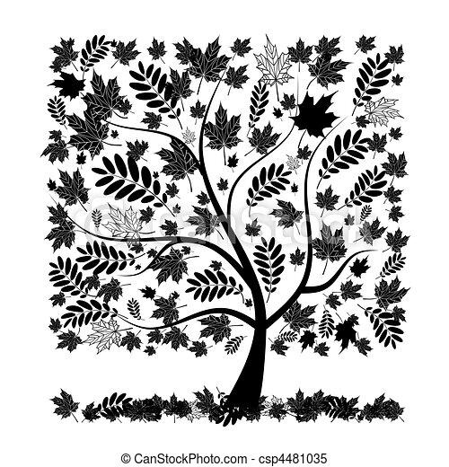 Beautiful autumn tree for your design - csp4481035