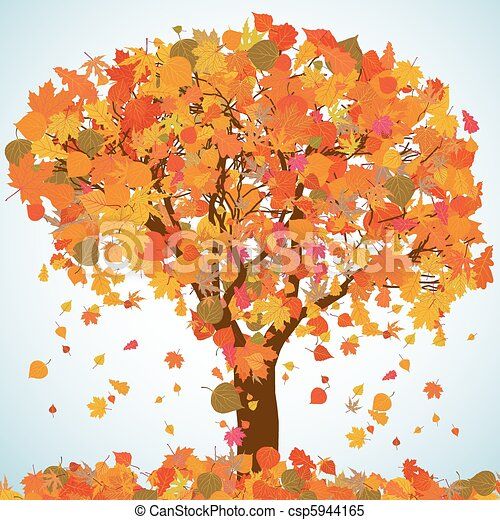 Beautiful autumn tree for your design. EPS 8 - csp5944165