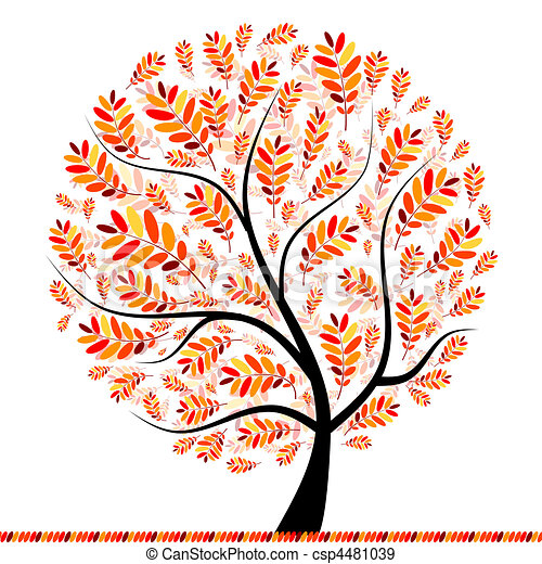 Beautiful autumn tree for your design - csp4481039