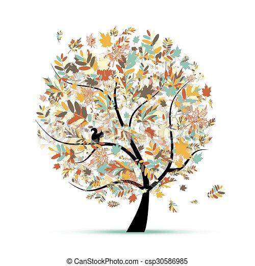 Beautiful autumn tree for your design - csp30586985