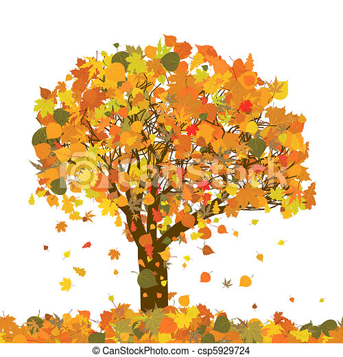 Beautiful autumn tree for your design. EPS 8 - csp5929724