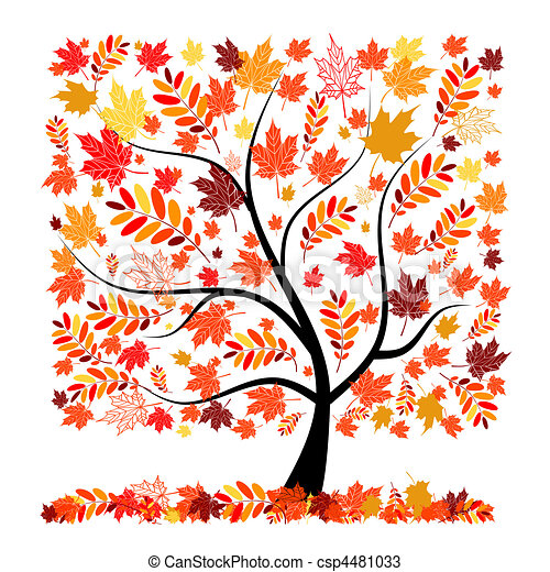 Beautiful autumn tree for your design - csp4481033