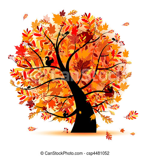 Beautiful autumn tree for your design - csp4481052
