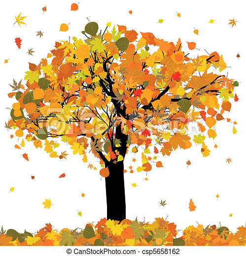 Beautiful autumn tree for your design. EPS 8 - csp5658162