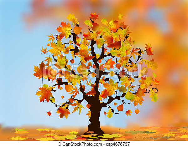 Beautiful autumn tree for your design. - csp4678737