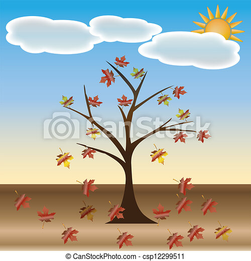 Beautiful autumn tree for your design.  - csp12299511