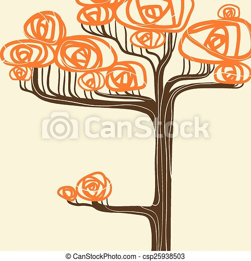 Beautiful autumn tree for your design. Vector illustration - csp25938503