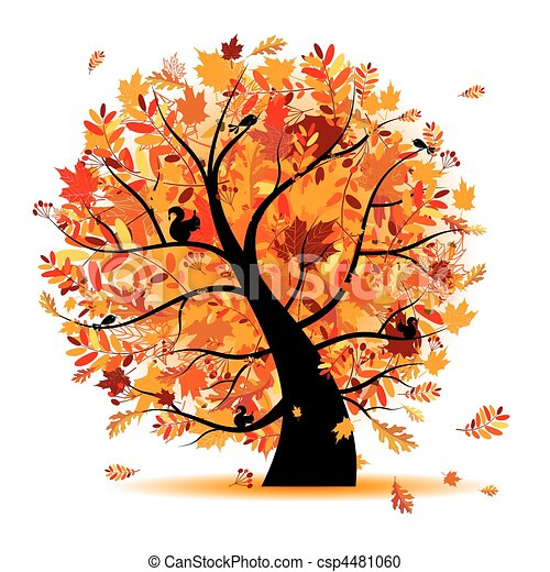 Beautiful autumn tree for your design - csp4481060