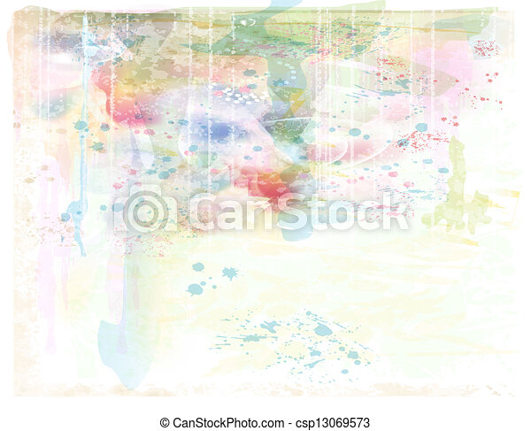 beautiful background. Imitation of watercolor painting. - csp13069573