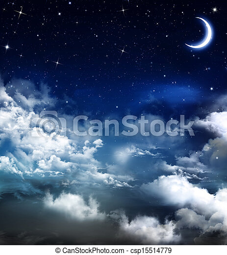 beautiful background, nightly sky  - csp15514779