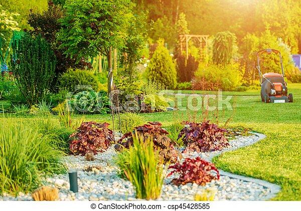 Beautiful Backyard Garden - csp45428585
