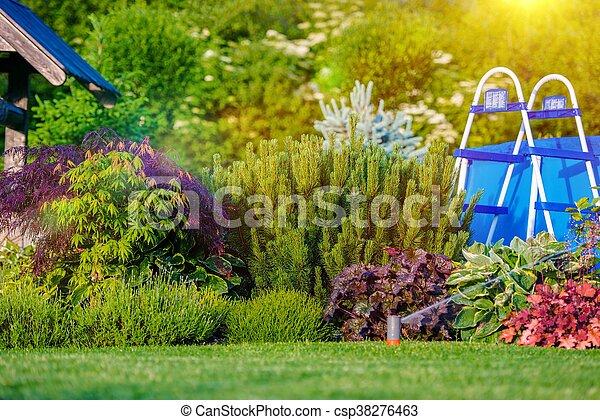 Beautiful Backyard Garden - csp38276463