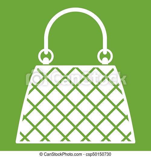 Beautiful bag icon green - csp50150730