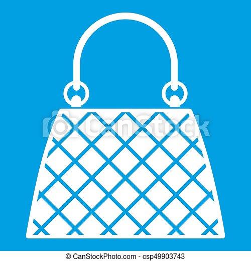 Beautiful bag icon white - csp49903743