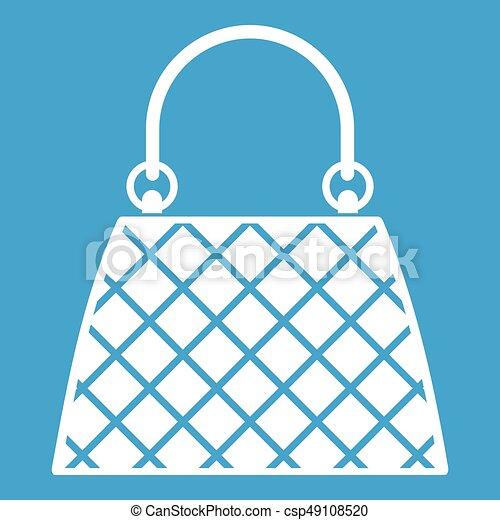 Beautiful bag icon white - csp49108520