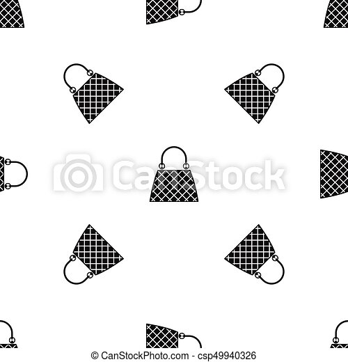 Beautiful bag pattern seamless black - csp49940326