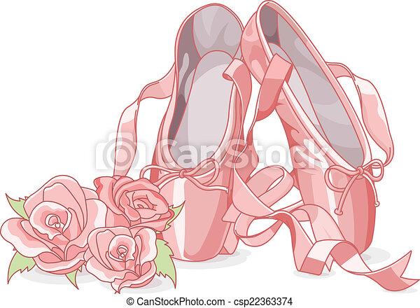 Beautiful ballet slippers  - csp22363374