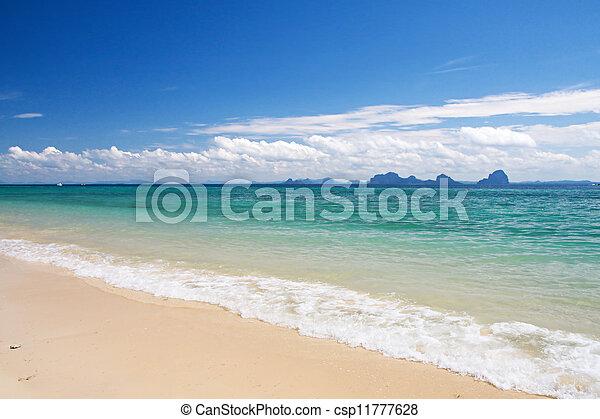 beautiful beach - csp11777628