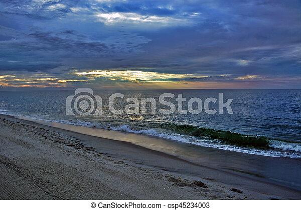 Beautiful Beach Sunrise - csp45234003