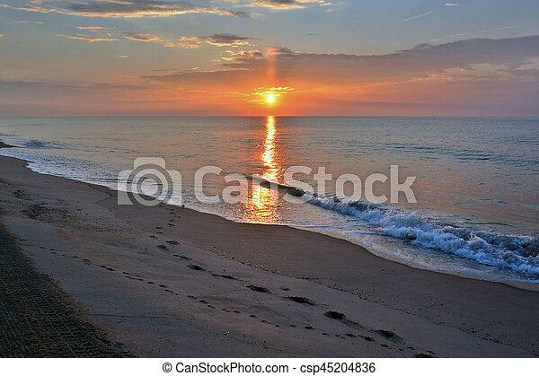 Beautiful Beach Sunrise - csp45204836