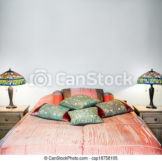 beautiful Bedroom Interior detail - csp18758105