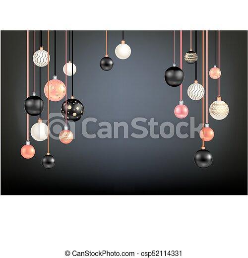 Black Christmas Balls.Beautiful Black Christmas Ball
