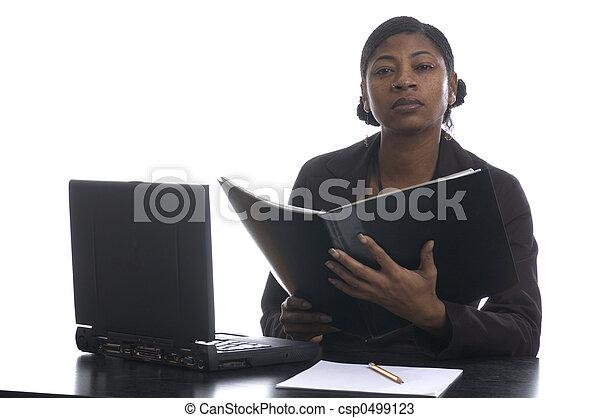 beautiful  black female executive - csp0499123