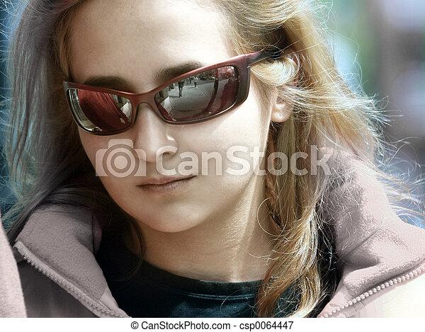 Beautiful blond girl - csp0064447