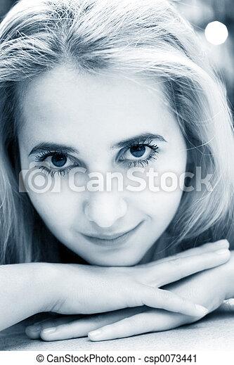 Beautiful blond girl - csp0073441