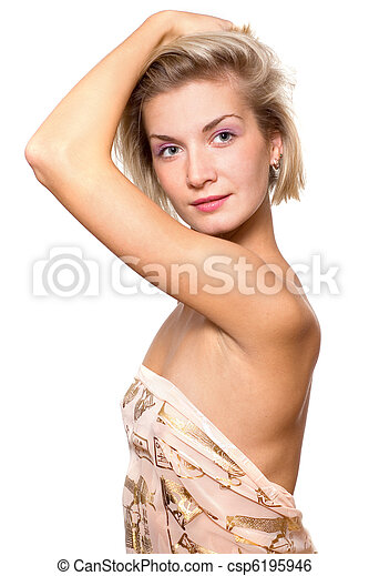 Beautiful blond girl - csp6195946