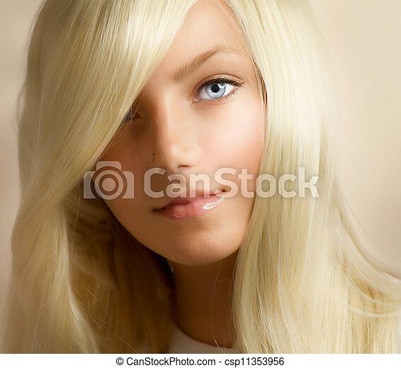 Beautiful Blond Girl - csp11353956