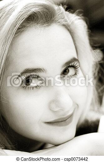 Beautiful blond girl - csp0073442